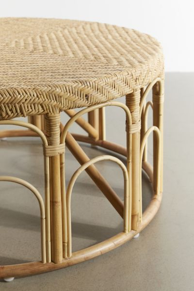 Picture of: Round Rattan Coffee Table Canada Coffee Table Design Ideas