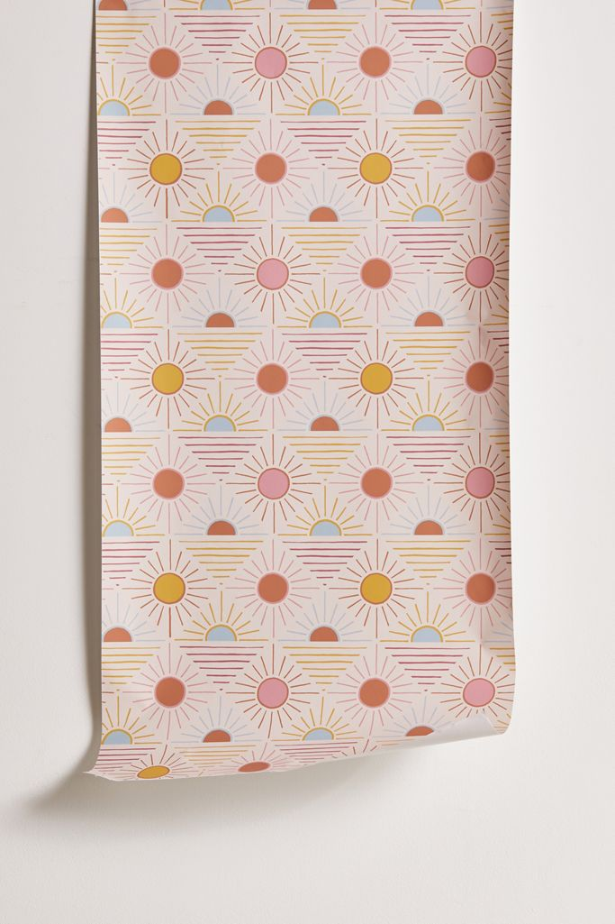 Geo Sun Removable Wallpaper Urban Outfitters