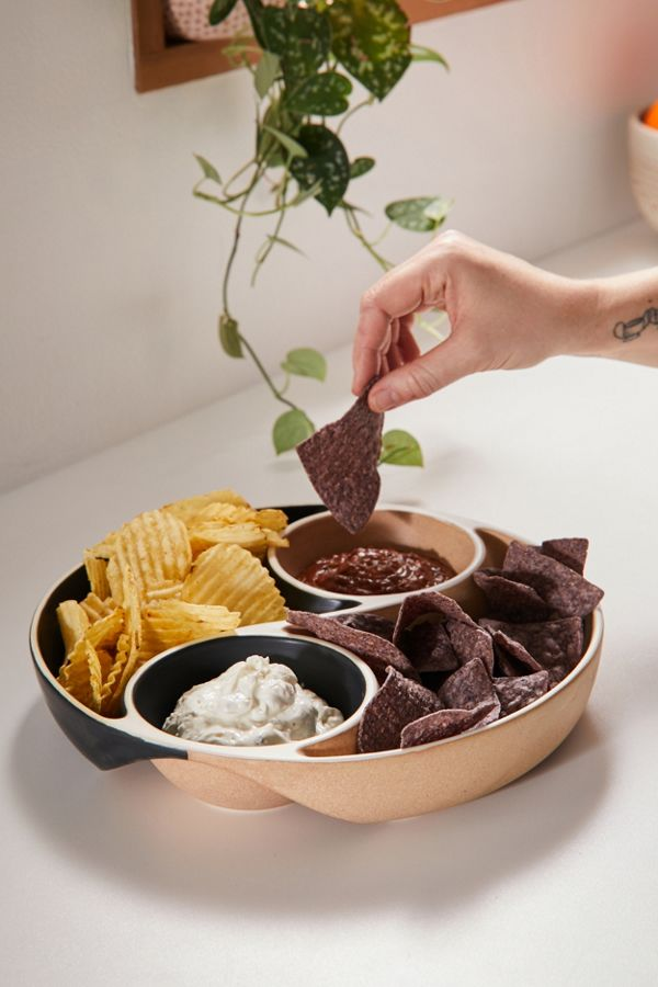 Slide View: 1: Yin Yang Chip And Dip Bowl