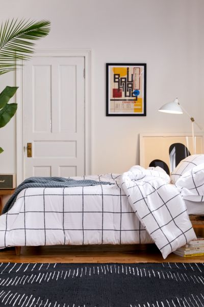 Picture of: Distressed Grid Comforter Set Urban Outfitters