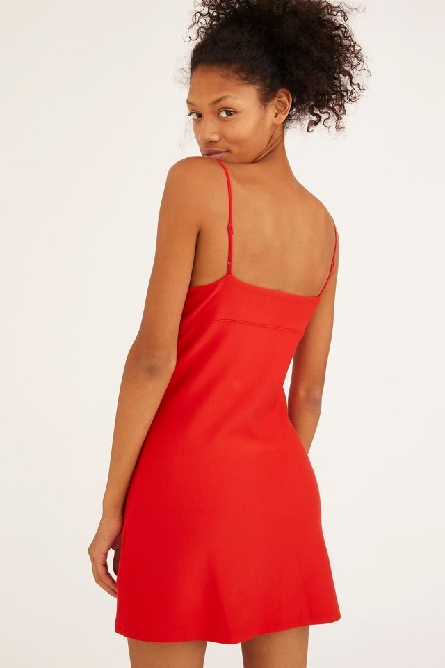 UO Ari Plunging Bustier Mini Dress   Urban Outfitters