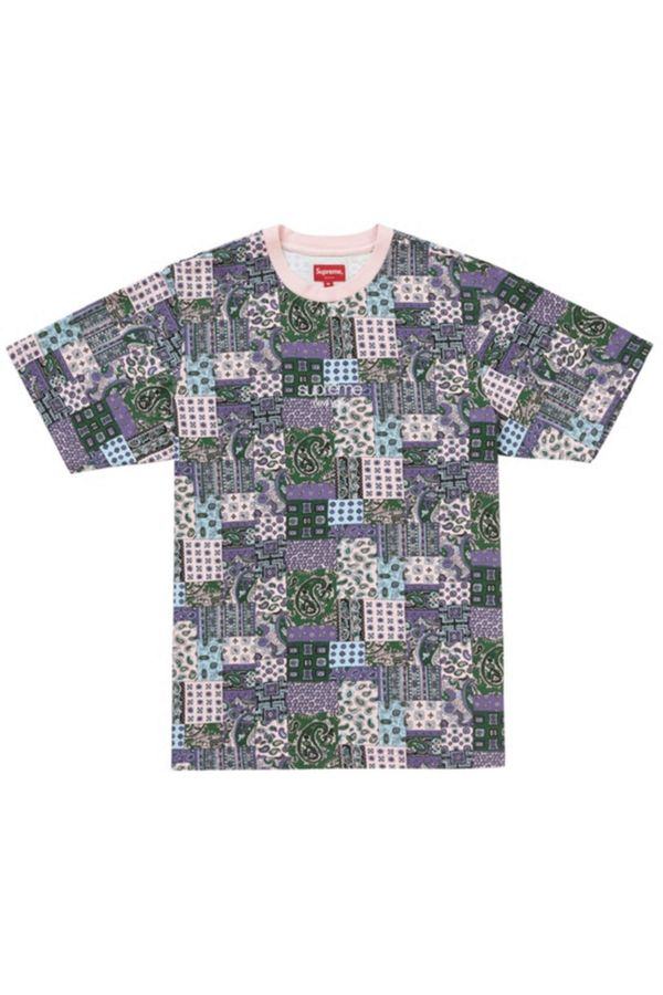 Supreme Patchwork Paisley SS Top