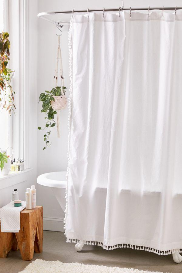 Slide View: 1: Allie Tassel Shower Curtain