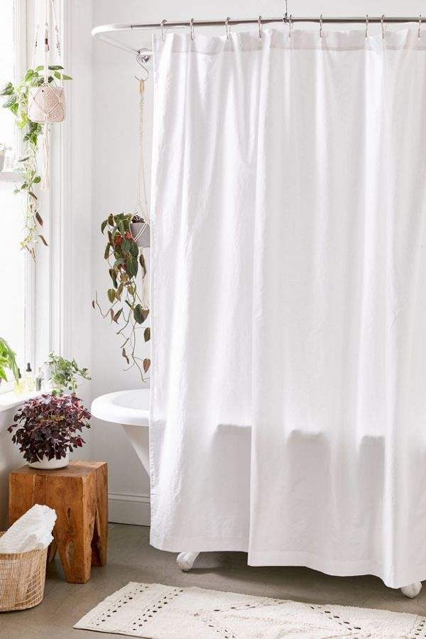 Slide View: 1: Washed Cotton Shower Curtain