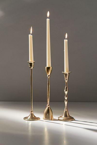 Olivia Antiqued Taper Candle Holder