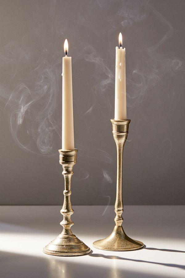 Slide View: 1: Amelie Taper Candle Holder Set