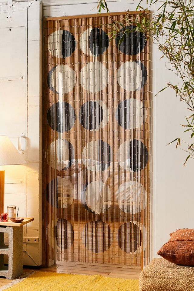 Moon Phases Bamboo Beaded Curtain, Beaded Curtains For Doors Uk