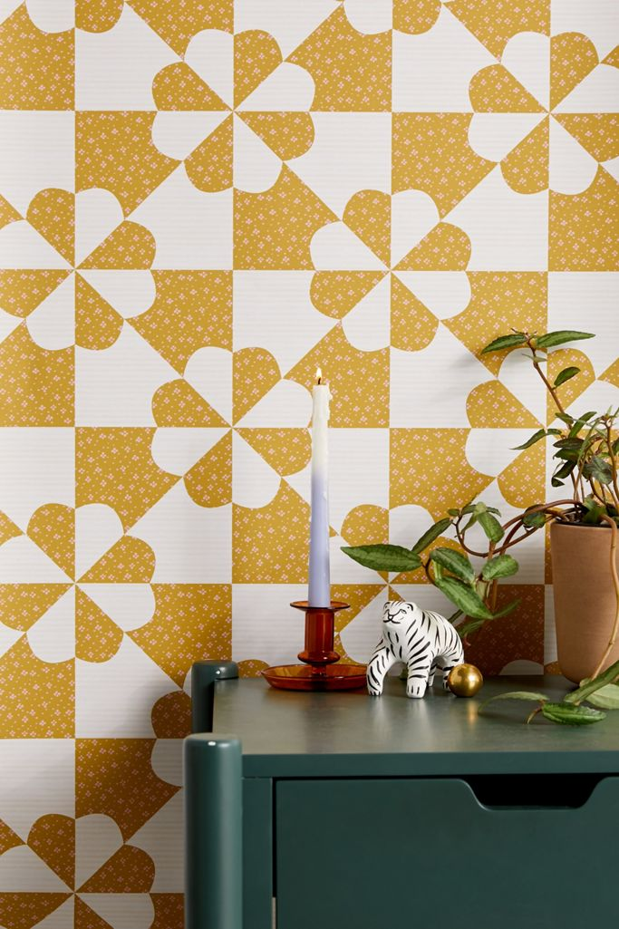 Geo Bloom Removable Wallpaper Urban Outfitters