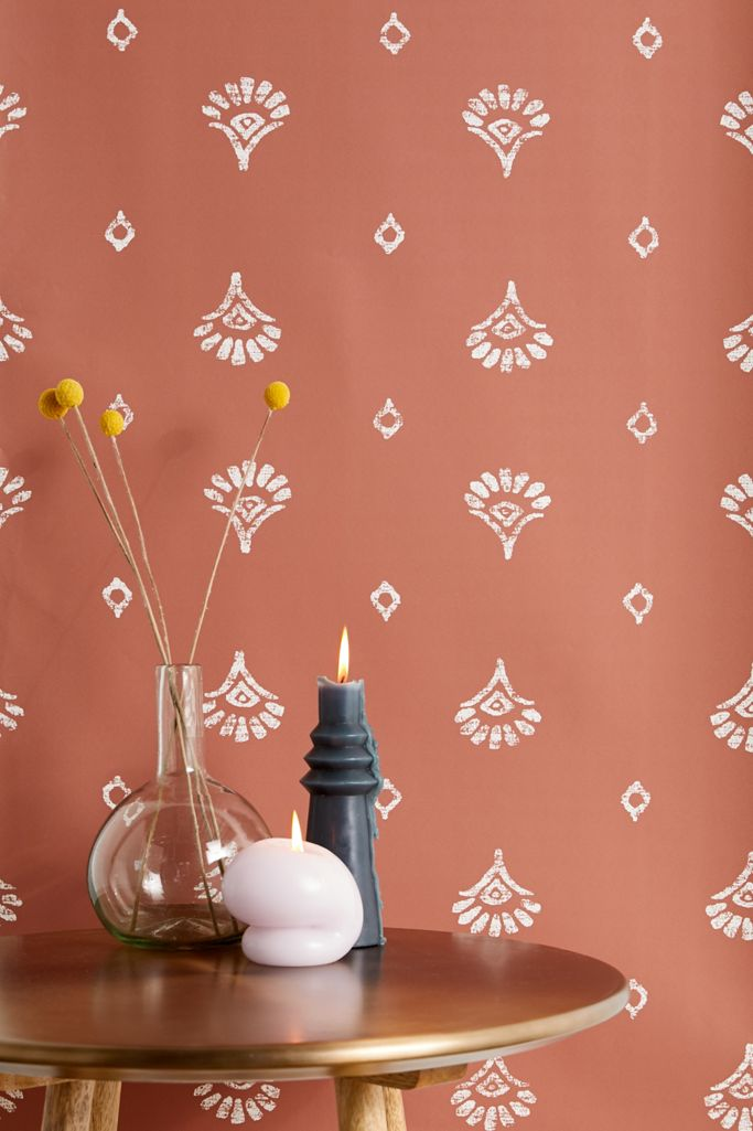 Jaya Block Print Removable Wallpaper Urban Outfitters
