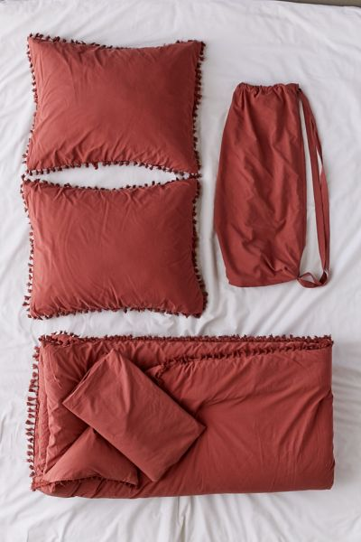 Picture of: Washed Cotton Tassel Comforter Snooze Set Urban Outfitters