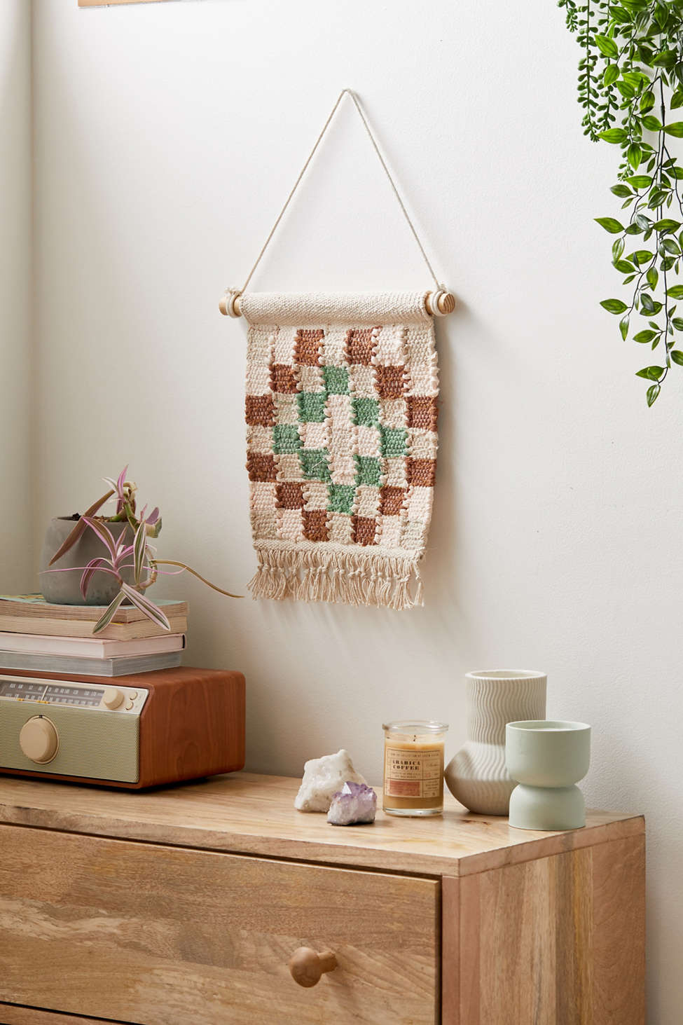 Woven Checkerboard Wall Hanging | Urban Outfitters