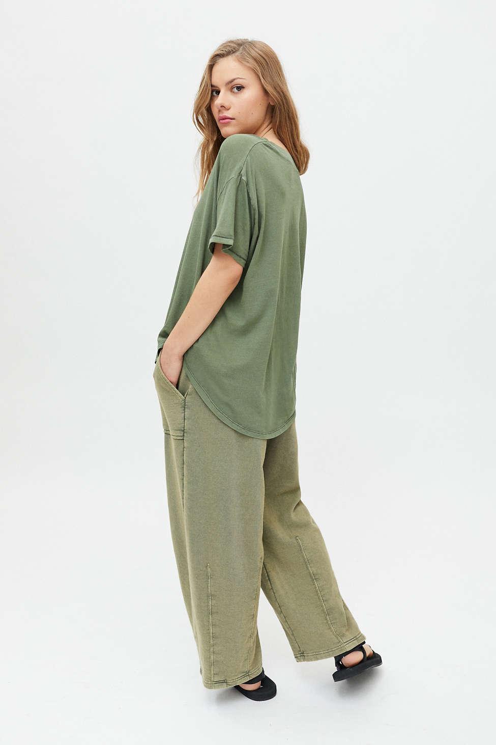 UO Jadie Split-Neck Top | Urban Outfitters