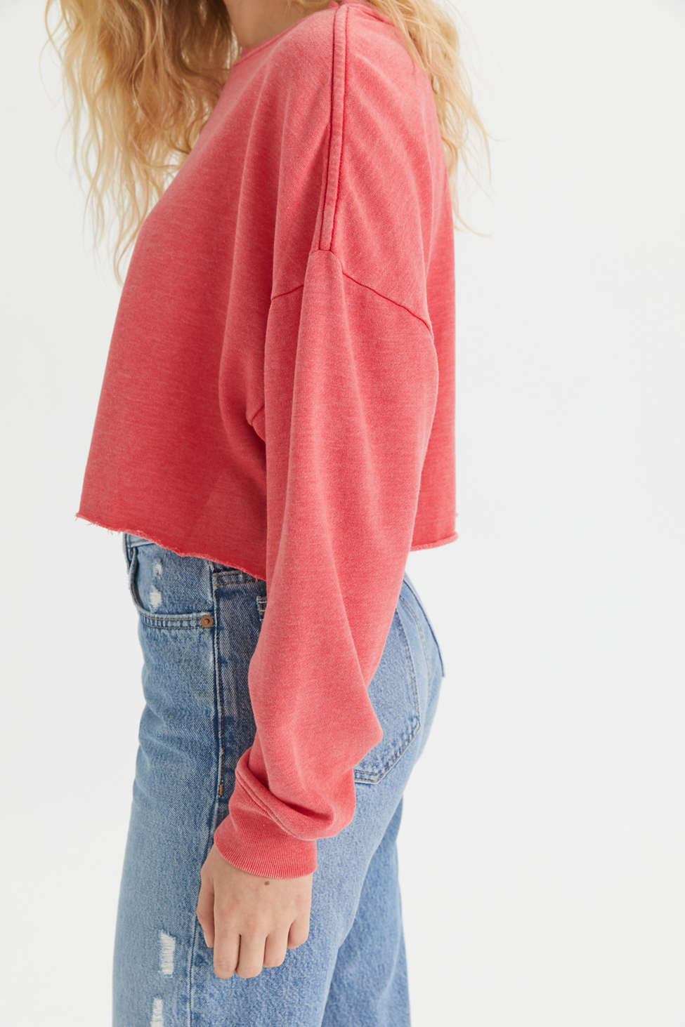BDG Ash Crew Neck Cropped Sweatshirt   Urban Outfitters
