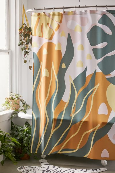 Alisa Galitsyna For Deny Floral Magic Shower Curtain Urban Outfitters