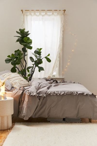 Lily Ruffle Duvet Cover Urban Outfitters