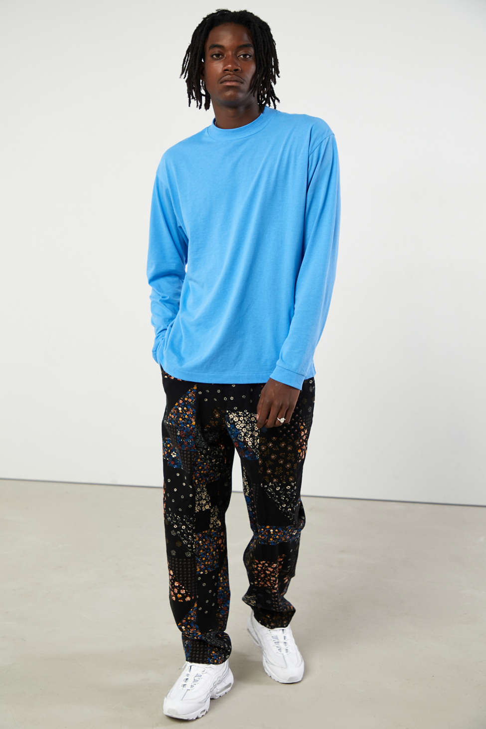 UO Recycled Mock Neck Long Sleeve Tee | Urban Outfitters