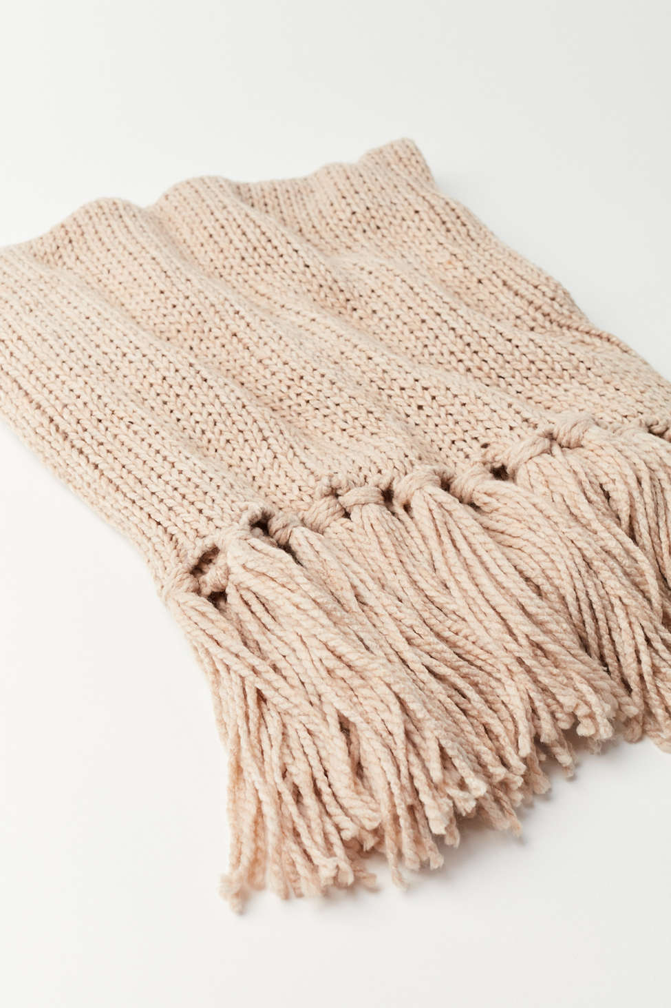Isla Knit Fringe Scarf | Urban Outfitters