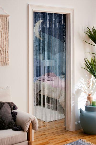 Cosima Bamboo Beaded Curtain Urban Outfitters
