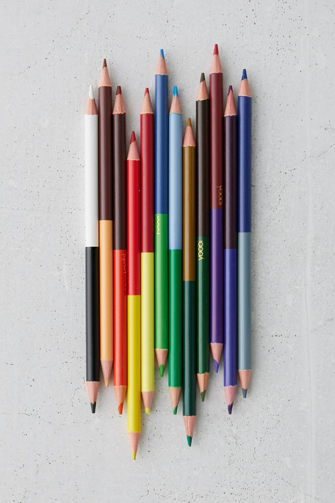 Yoobi Double-Ended Colored Pencil Set | Urban Outfitters