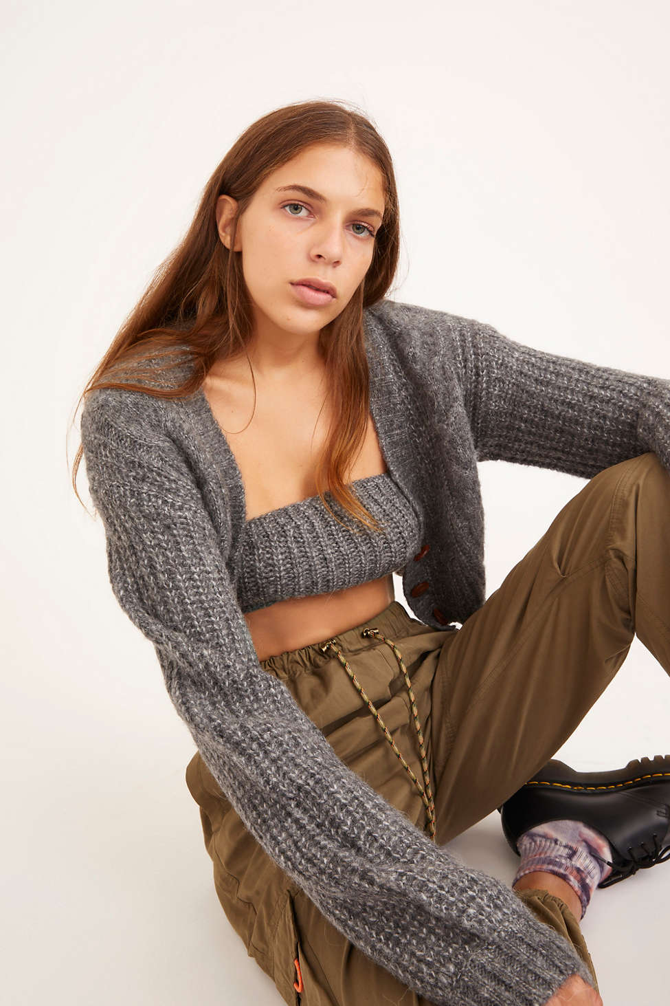 UO Lolli Cable Knit Cropped Cardigan | Urban Outfitters