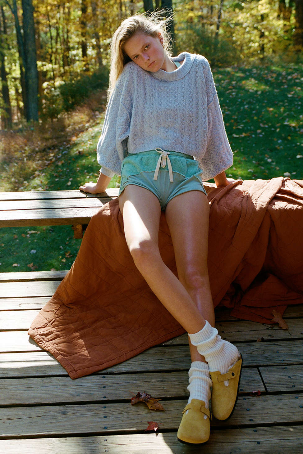 Out From Under Silas Fleece Drawstring Short | Urban Outfitters