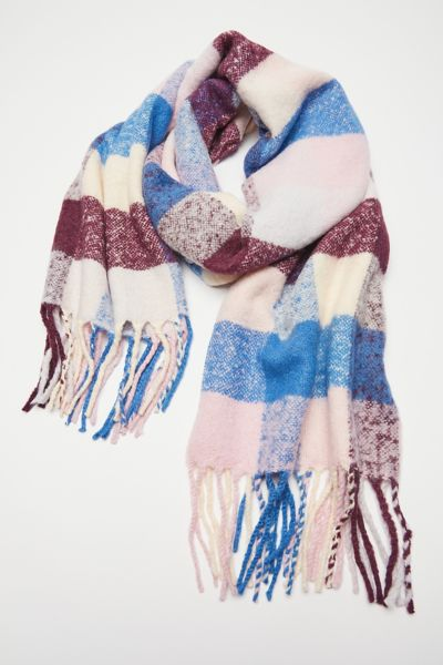 Check Plaid Blanket Scarf Urban Outfitters