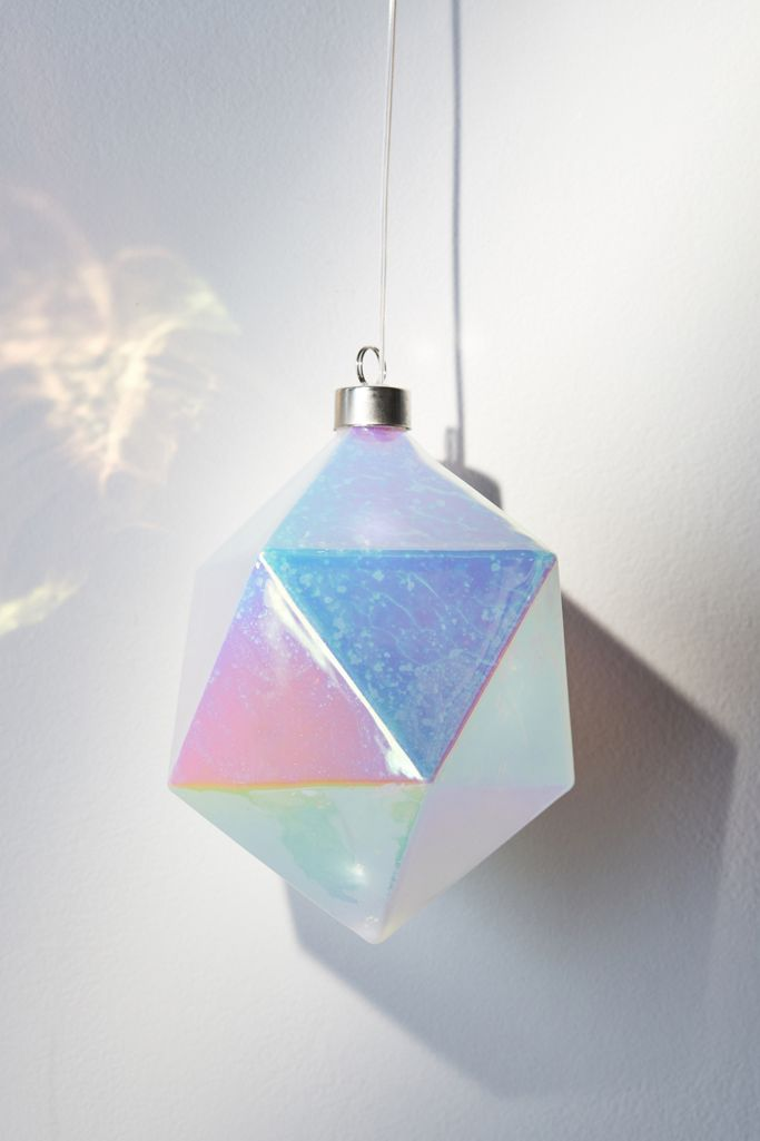 MoMA LED Glass Prism Christmas Ornament