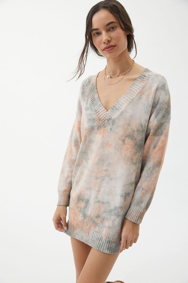 UO Norah Tie-Dye Sweater Dress | Urban Outfitters