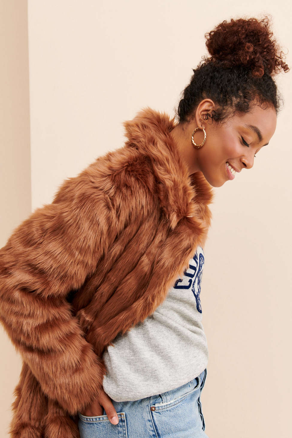 Glamorous Faux-Fur Real Glam Jacket   Urban Outfitters
