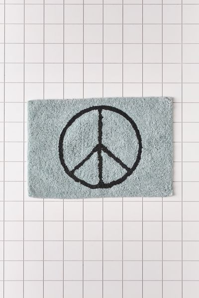 Peace Sign Bath Mat Urban Outfitters, Peace Sign Bathroom