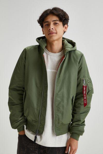 알파 인더스트리 MA-1 후드 자켓,Green