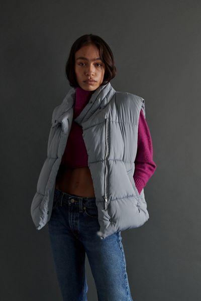 어반 아웃피터스 푸퍼 조끼 Urban Outfitters UO Corrine Puffer Vest,Slate