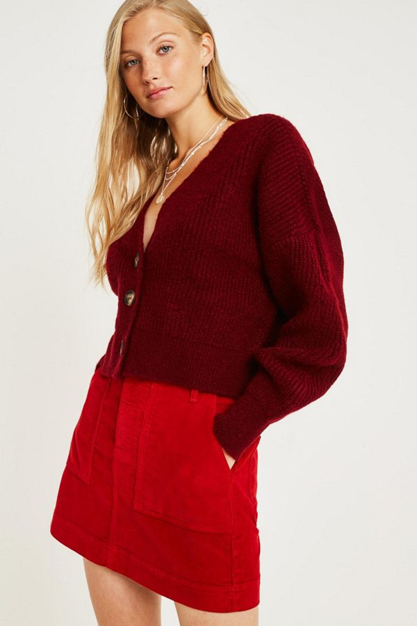 a3d96e158cd7 BDG Red Corduroy Carpenter Mini Skirt | Urban Outfitters