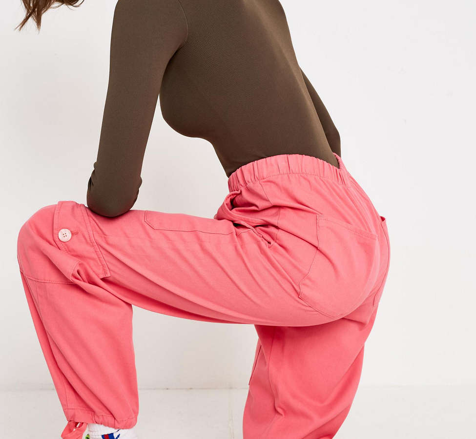 Slide View: 1: BDG Pink Soft Utility Pant