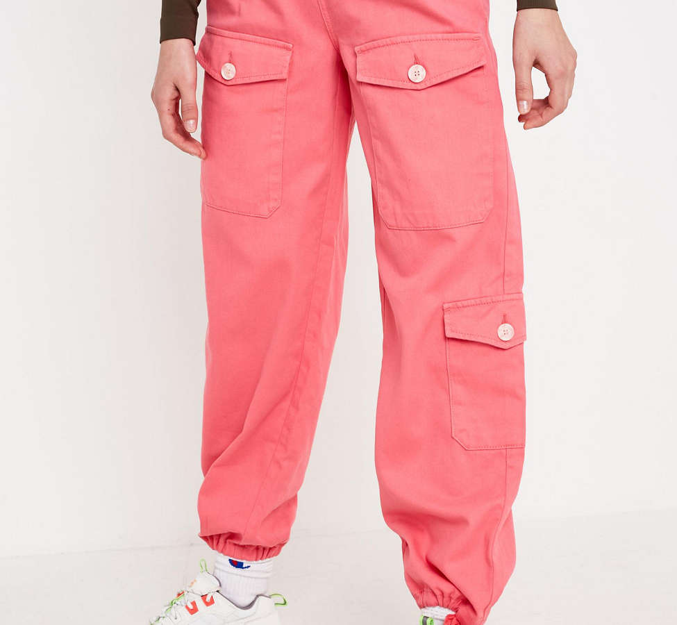 Slide View: 2: BDG Pink Soft Utility Pant