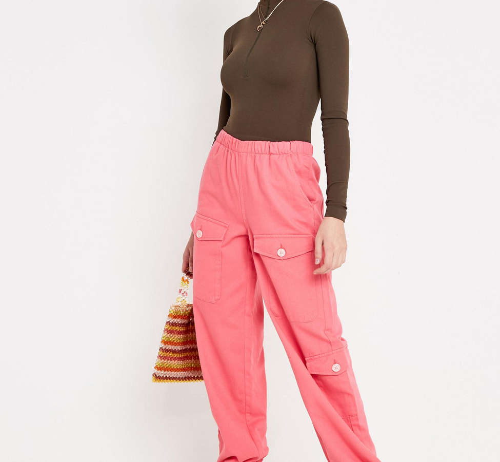 Slide View: 3: BDG Pink Soft Utility Pant