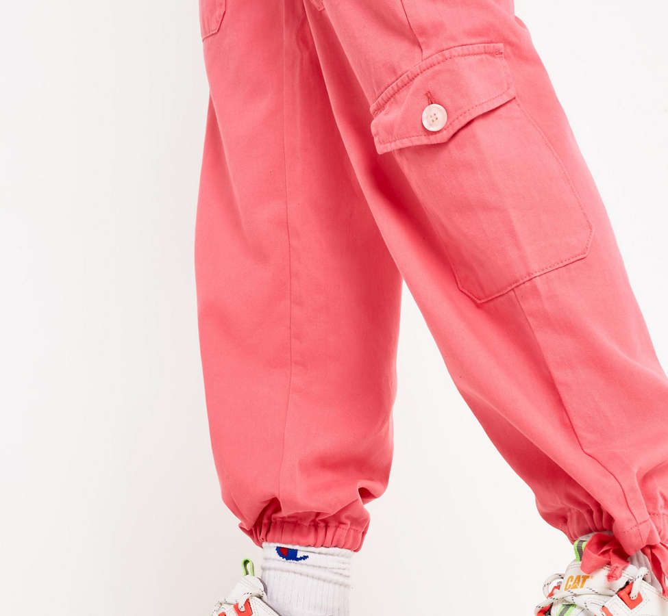 Slide View: 4: BDG Pink Soft Utility Pant