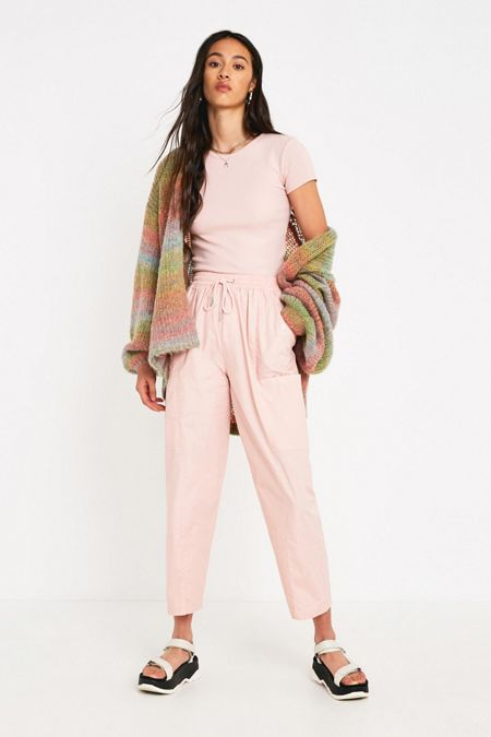 2a834bbcf08f UO Blush Pink Cotton Utility Pant