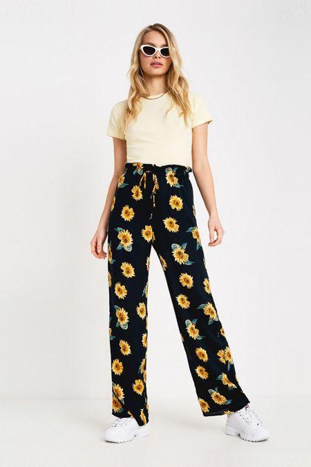 d6b9696bf9b UO Maisie Sunflower Paperbag Pant
