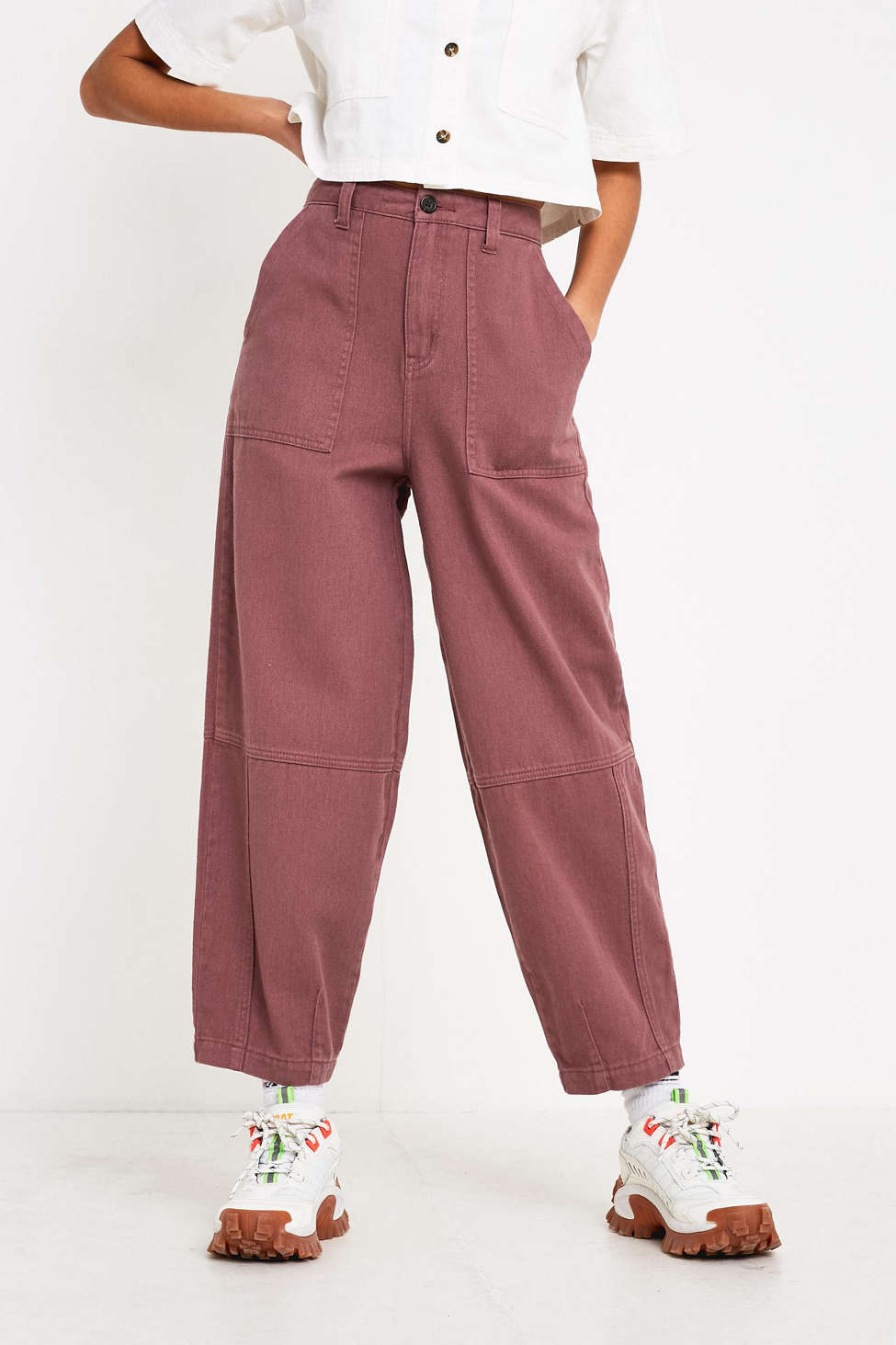 Uo Panelled Cocoon Pant by Urban Outfitters