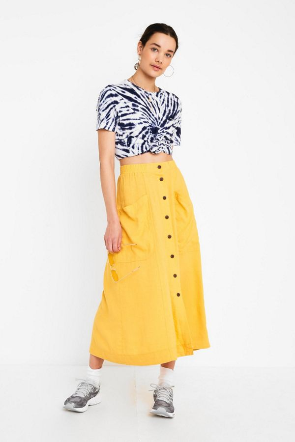 lowest price top-rated official discount collection UO Amy Button-Front Midi Skirt