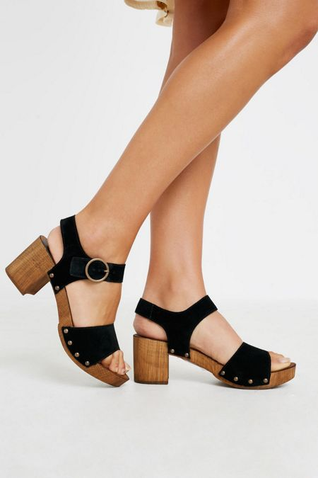 3e96718c0 UO Alana Wood + Leather Sandal
