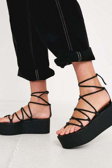 1f6132a0aed02f UO Asha Lace-Up Wedge Sandal
