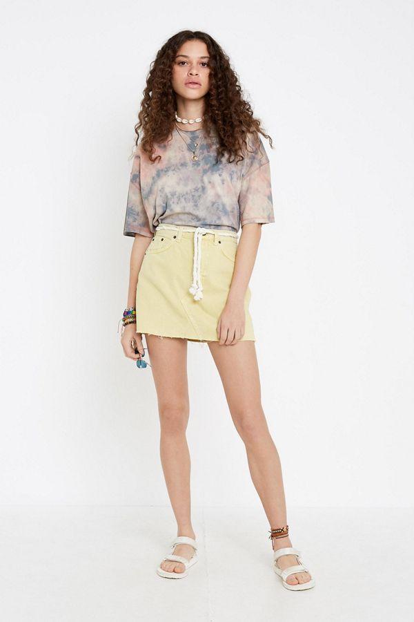 8562d242f BDG Austin Limon Notched Denim Mini Skirt   Urban Outfitters