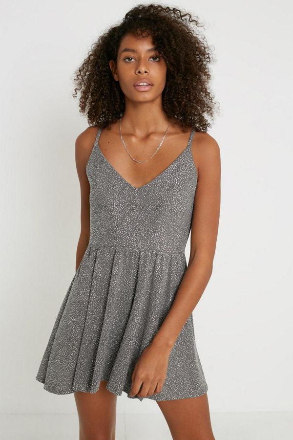 uo-vanessa-sparkly-metallic-romper by urban-outfitters