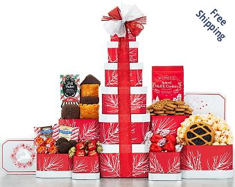 Deck the Halls Gift Tower