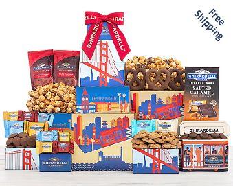 Ghirardelli Milk and Dark Chocolate Tower Free Shipping