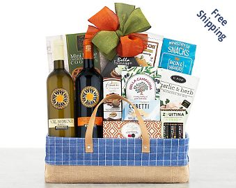 Val Serena Italian Wine Assortment Gift Basket  Free Shipping