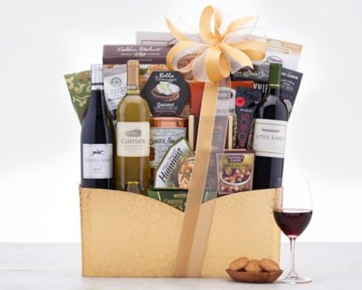 California Trio Wine Gift Basket FREE SHIPPING Discounted
