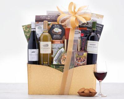 California Trio Wine Gift Basket FREE SHIPPING Discounted